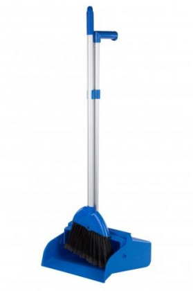 BROWNS COMMERCIAL UPRIGHT DUSTPAN SET - BLUE