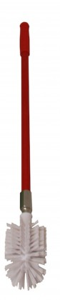 LONG HANDLED TOILET BRUSH - RED HANDLED