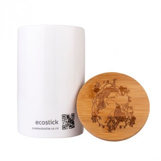 ECOSTICK FOREST & BIRD CERAMIC CANISTER & LID