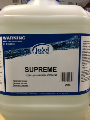 JASOL SUPREME DOSED LAUNDRY DETERGENT 20L