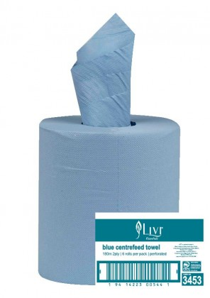 LIVI CENTREFEED TOWEL BLUE 2ply - 3453
