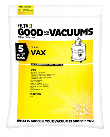 F052 - VAX PAPER BAGS 5 pack