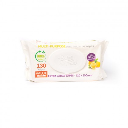 MULTI-PURPOSE ANTI BACTERIAL WIPES 130 VALUE PACK