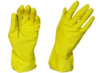 RUBBER GLOVES SILVER LINED - MEDIUM PAIR