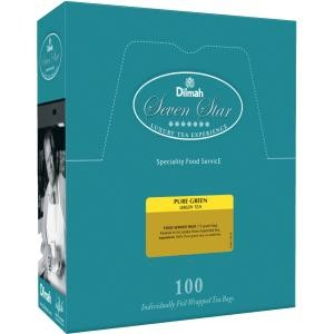 TEA BAGS DILMAH PURE GREEN 100s