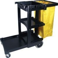 RUBBERMAID CLEANING CART WITH ZIPPERED BAG