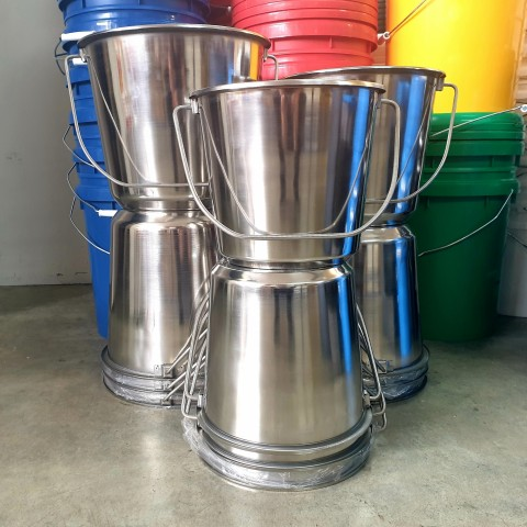 STAINLESS STEEL BUCKET 8L